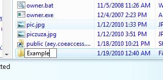 <blockquote>Windows explorer: creating a new folder.</blockquote>