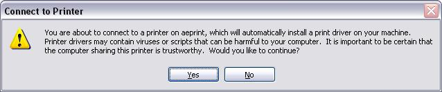 <blockquote>Windows Dialog Box: Connect to Printer