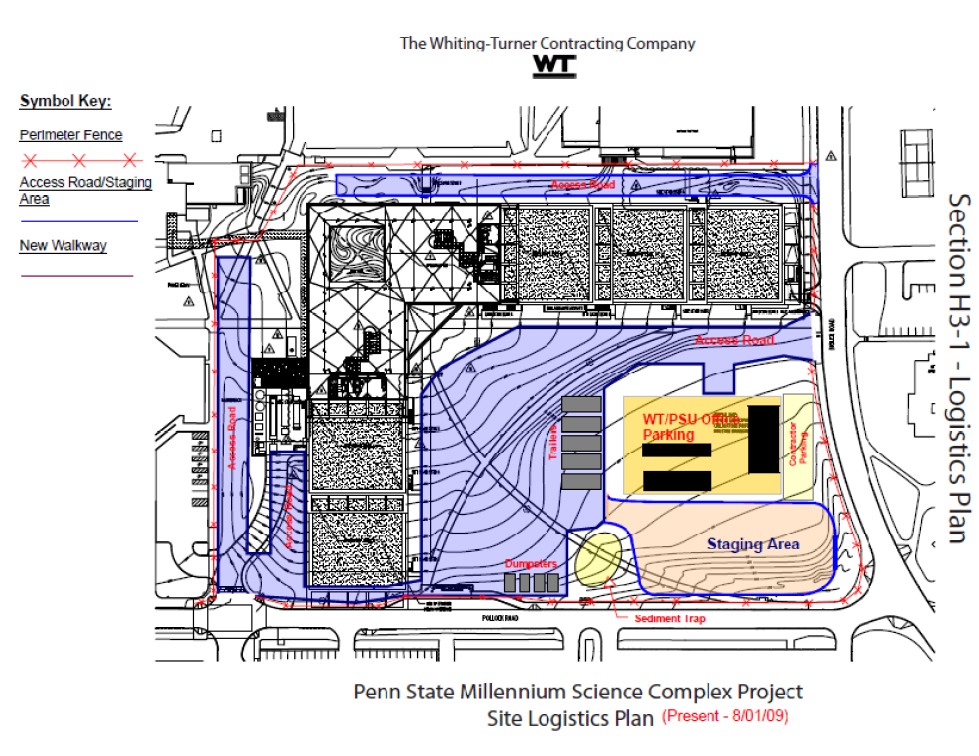 Construction site logistic plan for a construction site for Plan construction