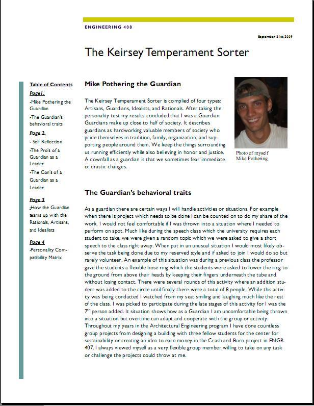 an overview of the keirsey temperament sorter personality test The keirsey temperament personality assessment test, also known as the keirsey temperament sorter, is one of the most widely used personality tests in the world the test consists of 70 questions designed to help the participant learn what their personality type is the personality test is based on.