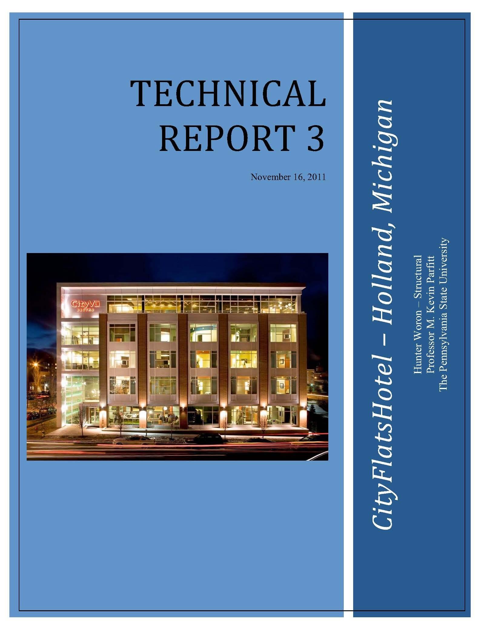 cityflatshotel technical reports tech report three