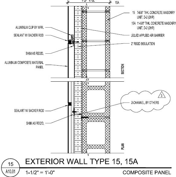 Exterior Wall Section Details : P