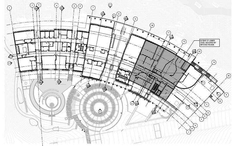 Ground floor plan not intended to be read for How to read construction site plans