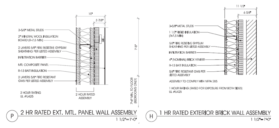 Residential Fire Rated Wall : Hour fire rated wall section best
