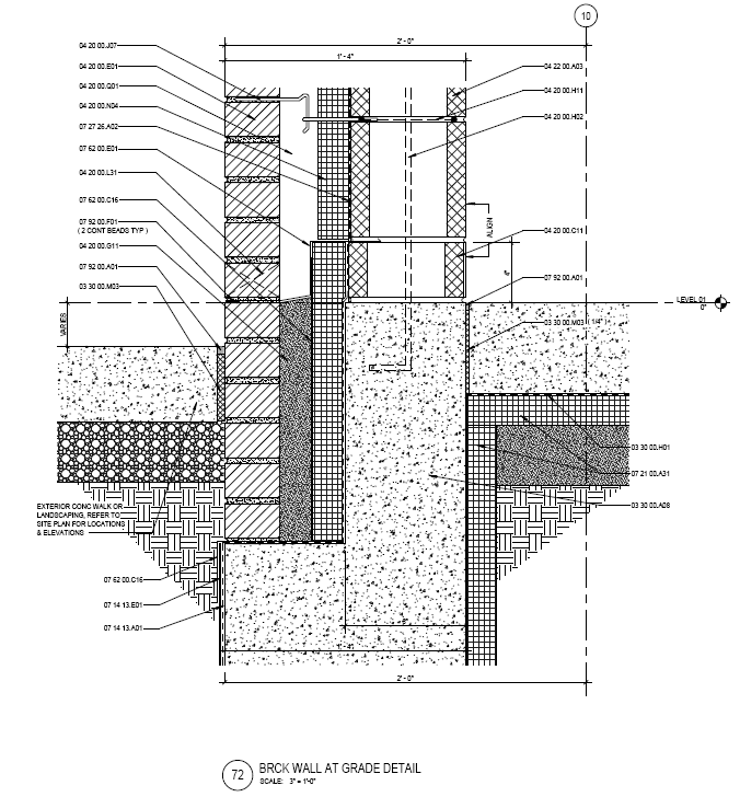Figure 3 brick wall section courtesy of smithgroupjjr for Exterior wall construction detail