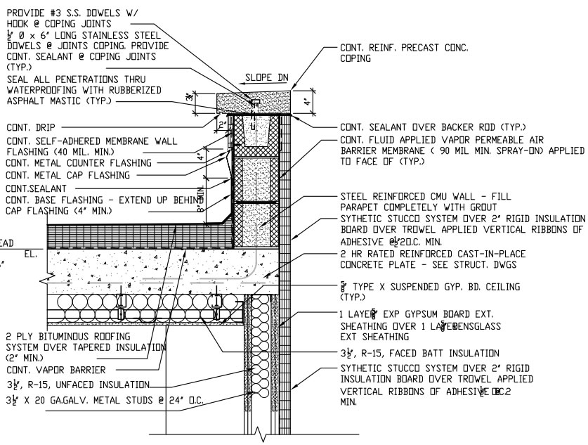 Fig 05 Roof And Parapet Details