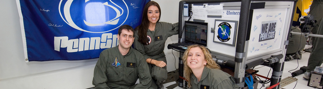 penn state aerospace engineering students experience weightlessness aboard nasa's vomit comet