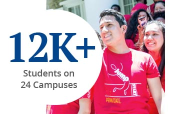 12 K plus Students on 24 Campuses