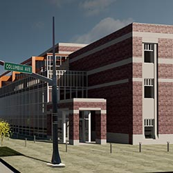 rendering of facility exterior