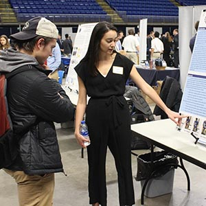 students display project at showcase