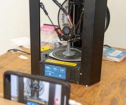 3-d printer printing a part