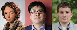 Headshots of Sarah Shandera, Donghui Jeong and Chad Hanna