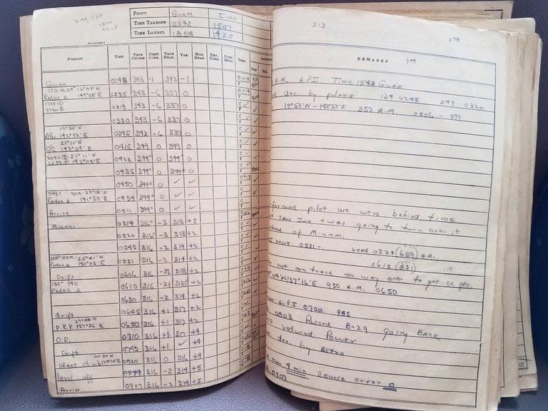 world war 2 navigator log book