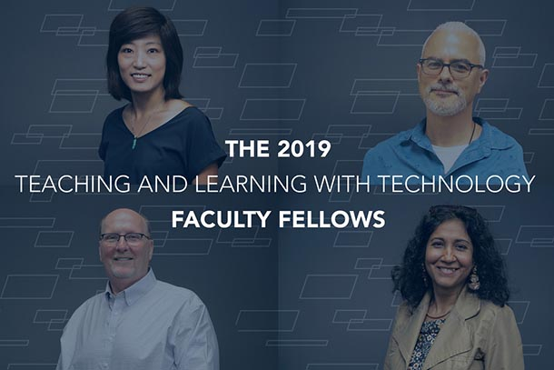 head shots of the 2020 T L T faculty fellows