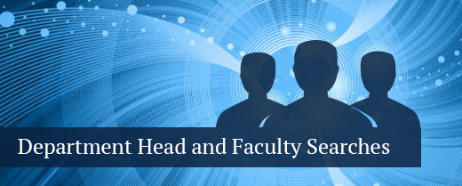 department head and faculty searches