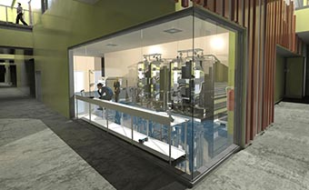 rendering of the proposed shared fermentation facility lab
