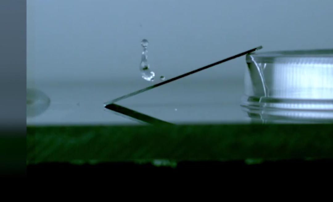 close-up of water droplet